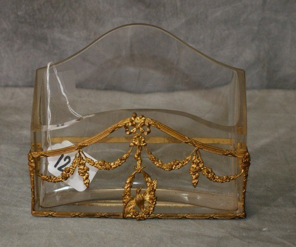 Bronze and crystal letter box
