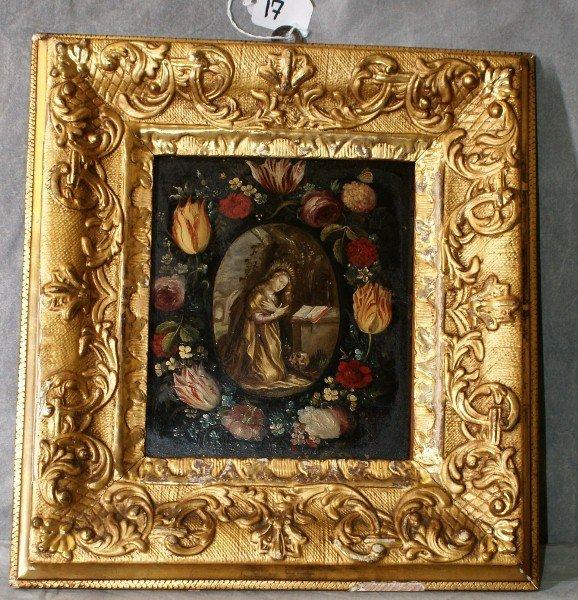 18th/19th C Giltwood framed icon