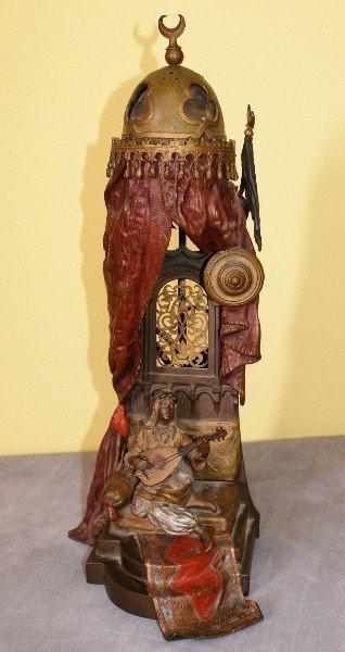Franz Bergman orientalist vienna bronze cold paint lamp