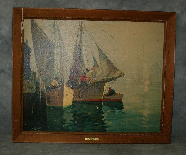 After A. Thieme (1888-1954 )Print on board