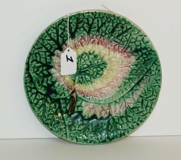 "Antique Majolica  plate. D:8.5"""