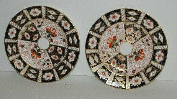 """Pair Royal Crown Derby porcelain plates. D:8.5"""""""