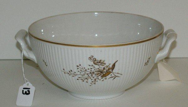 """Antique Royal Copenhagen porcelain bowl. H:4.75"""""""