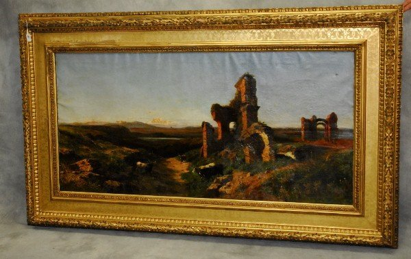 Achille Vertunni (Italian, 1826-1897) landscape
