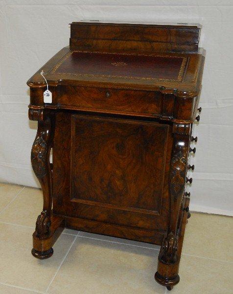 "19th C Rosewood Davenport desk. H:35"" W:22"" D:23"
