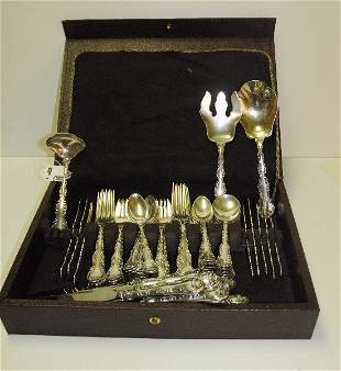 Gorham sterling silver flatware set service for 12 plus