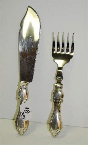 """2 sterling silver serving pieces. L:11"""""""