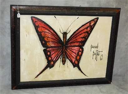 Bernard Buffet, Fr. 1928-1999, oil on canvas Butterfly