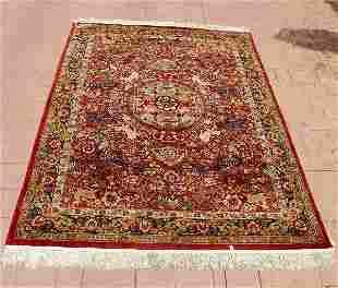 Large silk oriental rug