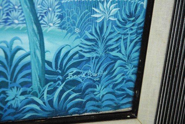 David Saintus (Haitian Artist) oil canvas of landscape - 2