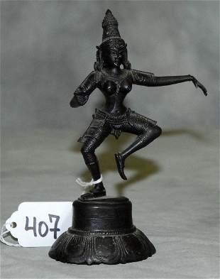 """Bronze dancing figure. H:5.75"""""""