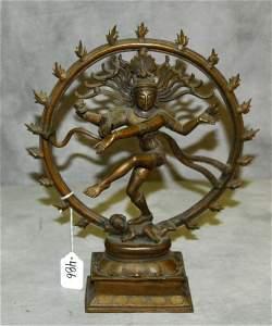 Bronze dancing Shiva.H:12.5 W:10.25