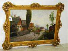 TH  Faier 19th c Dutch school oil on canvas laid on