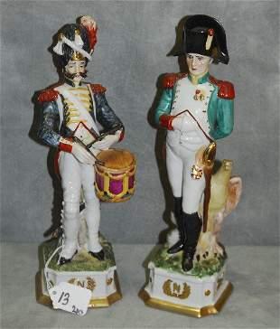 """Pair Capodimonte figures. H:12.5"""""""