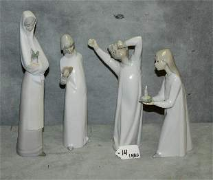 "4 porcelain figures. H:10.5"""