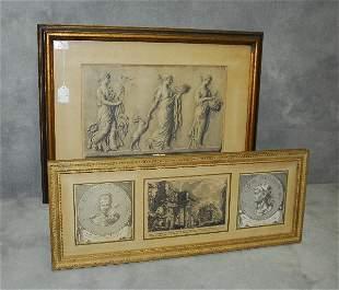 "2 antique engravings. Largest H:18.5"" W:25"""