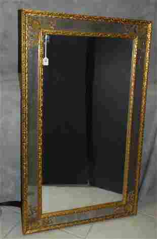 """Carved giltwood wall mirror . H:52"""" W:32"""""""