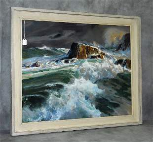John Whorf (1903-1959) seascape watercolor signed lower
