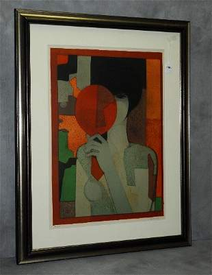 Andre Minaux (French 1923-1988) lithograph in colors