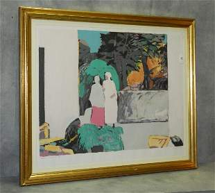 Gabriel Godard (French b. 1913) Color lithograph signed