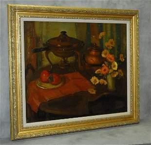 Nell Walker Warner (1891-1970 Carmel,Ca) oil on canvas