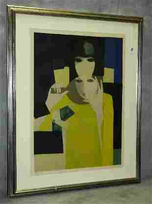 Andre Minaux ( French 1923-1988) lithograph in colors