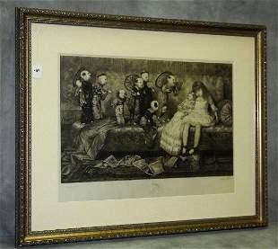 Stephen James Ferris , American 19th C etching . Site