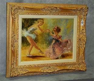 Montserrat Barta (1907-1988) Ballerina children signed