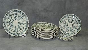 "Twelve W.T Copeland & Sons dinner plates D:10"" along"