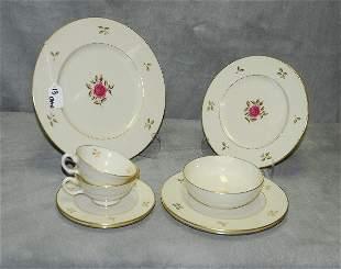 "Eleven Lenox ""Rhodora"" pattern porcelain pieces"