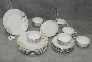 18 Nippon porcelain pieces comprising of 6 small plates