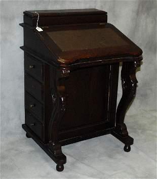 """Mahogany Davenport Desk. H:32"""" W:21"""" D:21"""" ."""