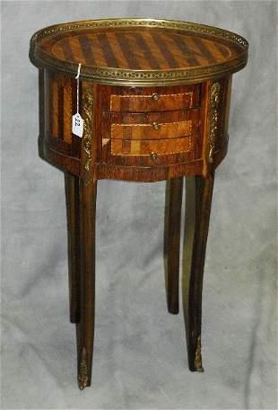 Louis XV style Kingwood and satinwood 3 drawer petite