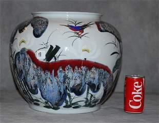 Chinese export porcelain fish bowl