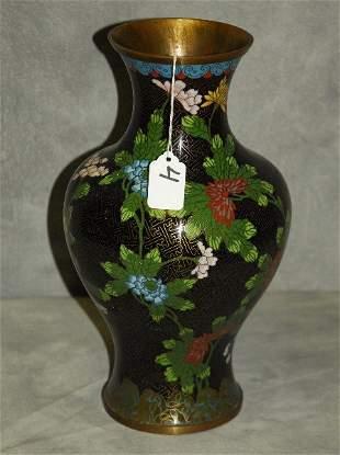 "Chinese antique cloisonne vase . H:13"""