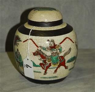Antique Chinese crackle glaze porcelain warrior