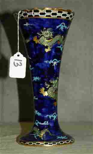"English porcelain chinese decorated dragon vase. H:9.5"""