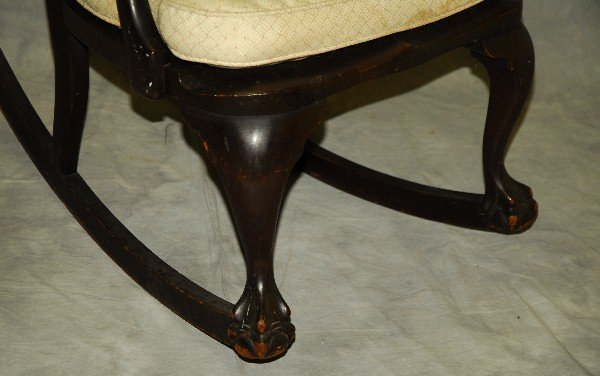 "Chippendale style mahogany rocking chair. H:35"" W:23"" - 3"