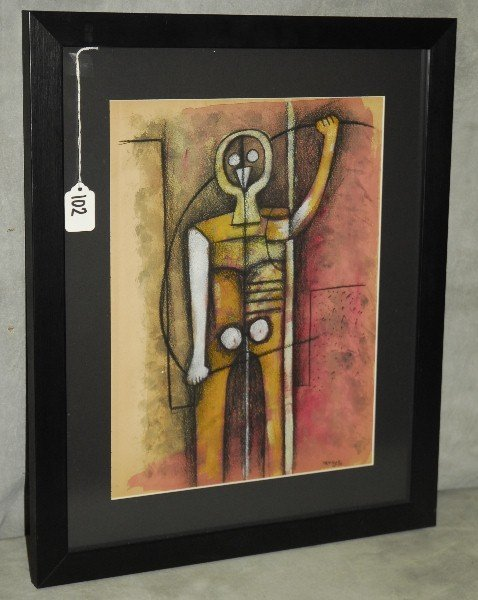 Rufino Tomayo (Mexican, 1899-1991) Mixed media on paper