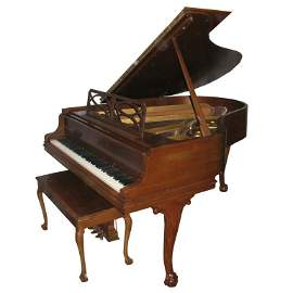 "1974 Steinway Model 'M' (5' 7"") Grand Piano and Bench"