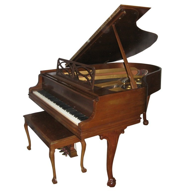 """1974 Steinway Model 'M' (5' 7"""") Grand Piano and Bench"""