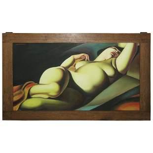 After Tamara De Lempicka, Polish 1898-1980, Oil on
