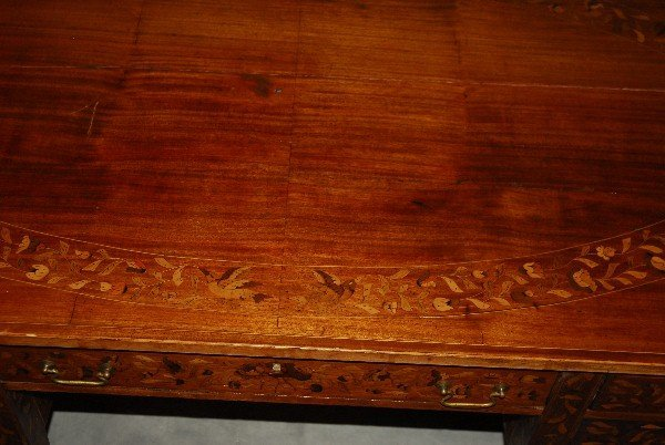 19th C Dutch marquetry inlaid desk finished all around - 5