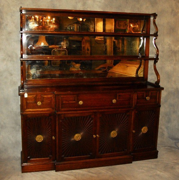 """English Regency style two-part Chiffonier. H:71"""" L:66"""""""