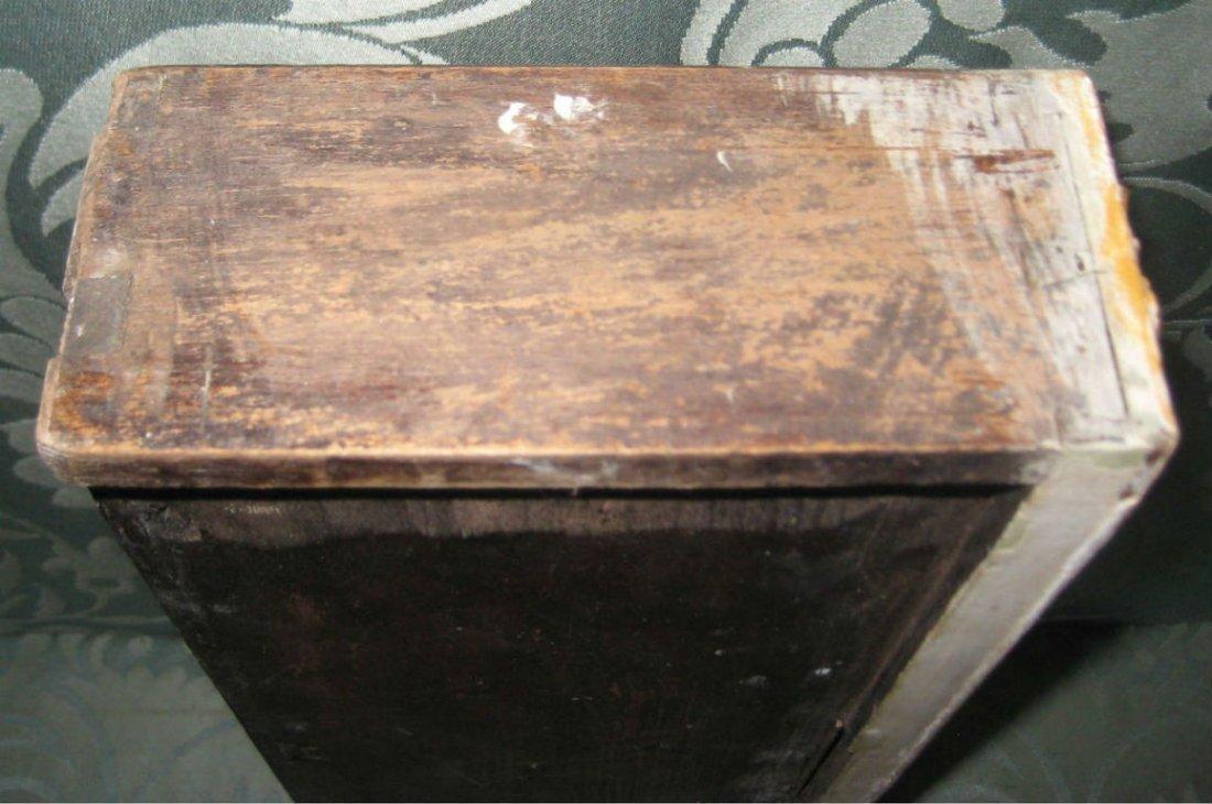 """18th C Louis XV painted 2 part secretary desk. H:78"""" - 6"""