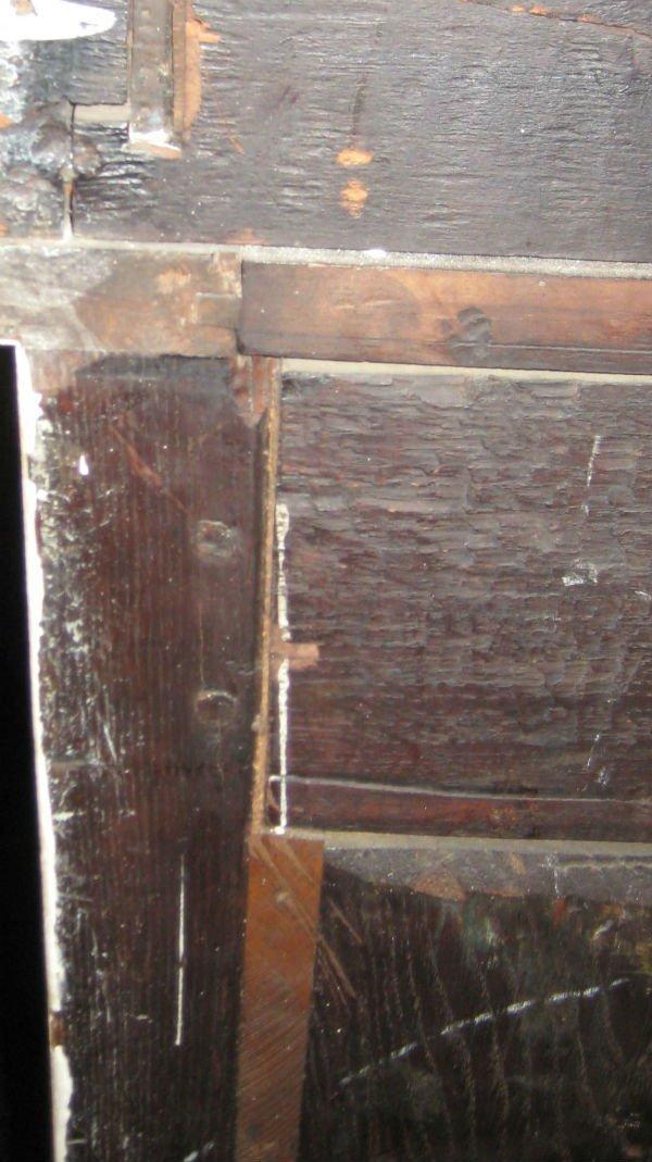 """18th C Louis XV painted 2 part secretary desk. H:78"""" - 7"""
