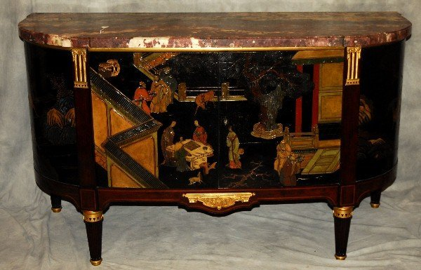 Signed Maison Forest A Paris marble top Chinoiserie