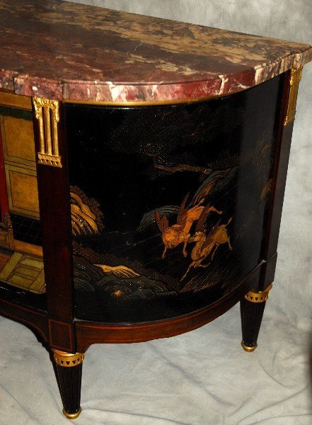 Signed Maison Forest A Paris marble top Chinoiserie - 3