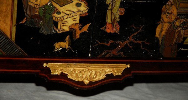 Signed Maison Forest A Paris marble top Chinoiserie - 4