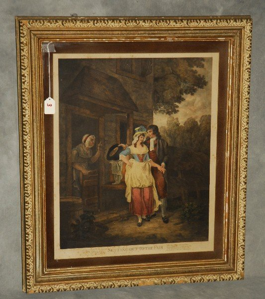 """Antique hand colored engraving. H:29"""" W:24""""."""